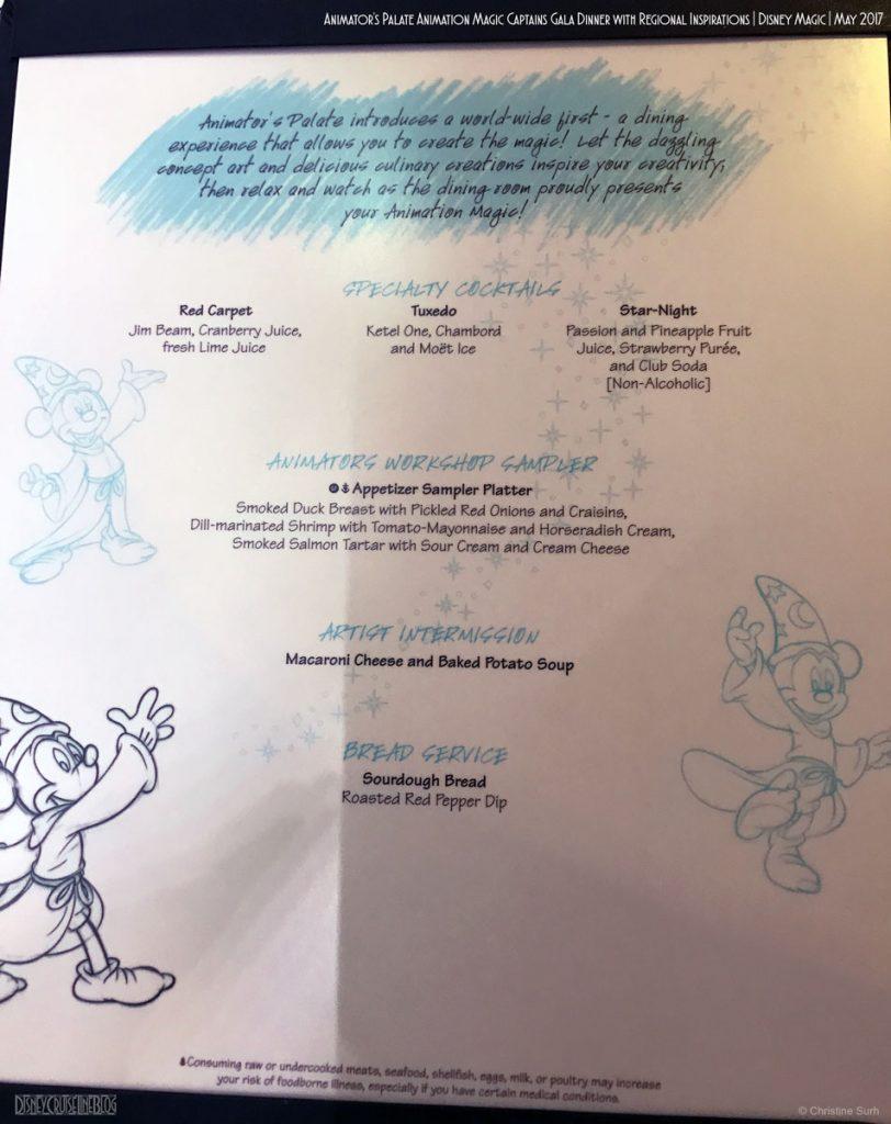 Animators Palate Animation Magic Dinner Menu A Magic May 2017