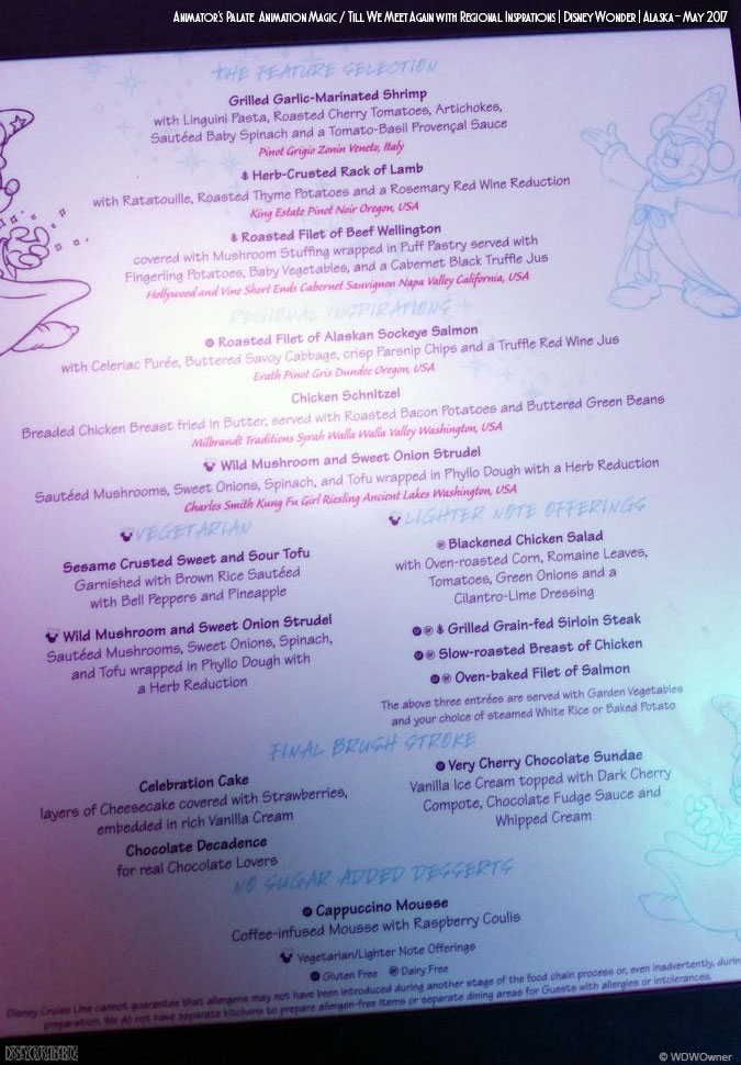 Animators Palate Animation Magic Dinner Menu B Wonder May 2017