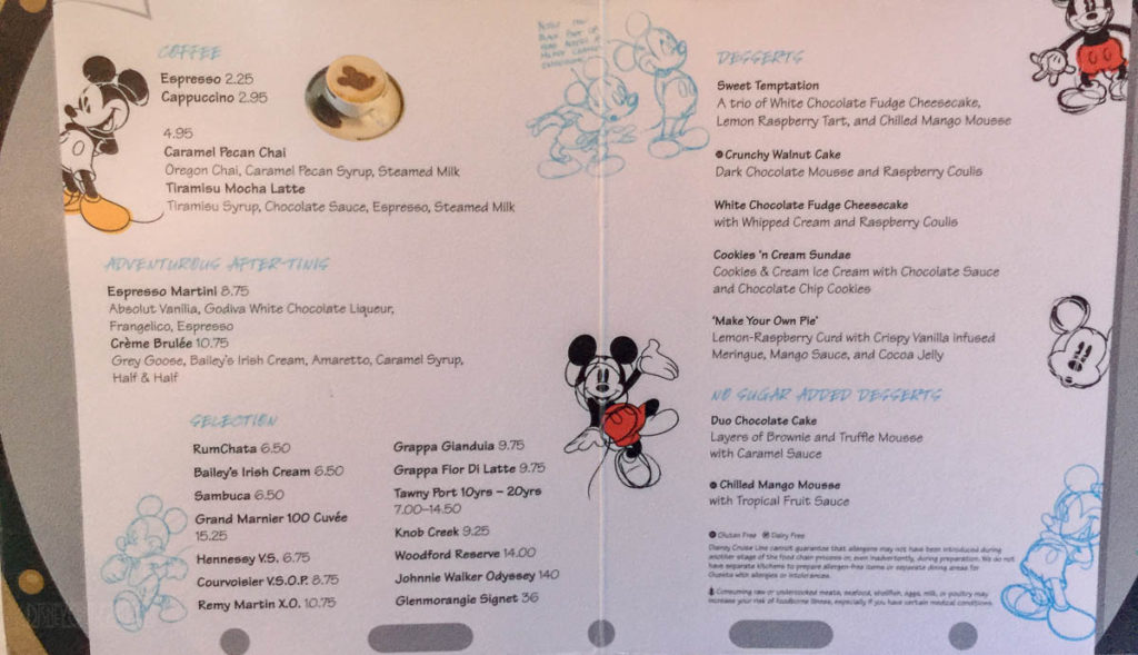 Animator's Palate Dessert Menu Fantasy June 2016