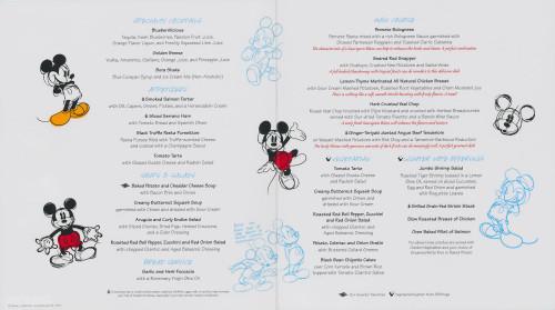 Animators Palate Dinner Menu Dream Fantasy August 2013