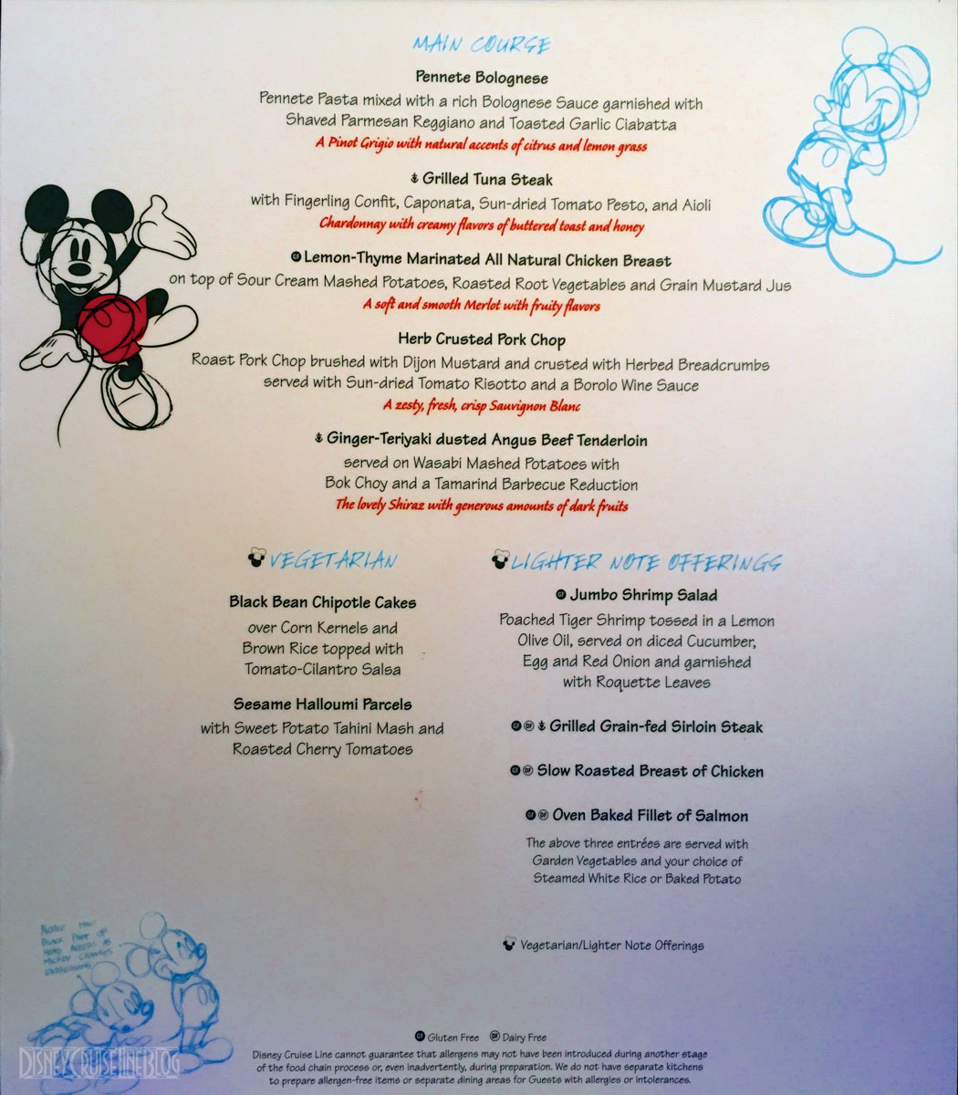 Remarkable A Wonder Fully Massive Menu Update The Disney Cruise Line Blog Download Free Architecture Designs Philgrimeyleaguecom