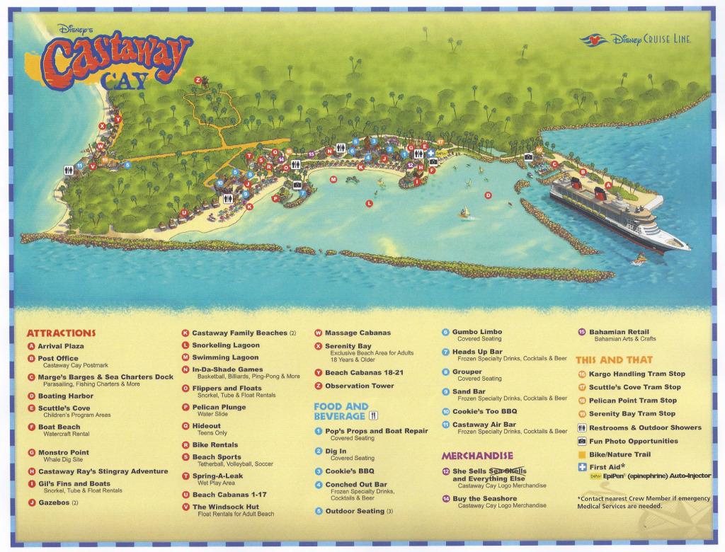 Castaway Cay Map EpiPen