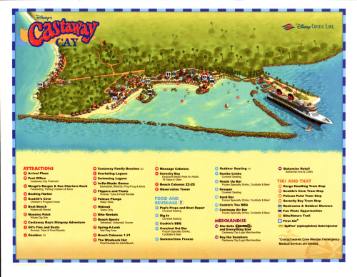 Castaway Cay Map March 2015 Summertime Freeze