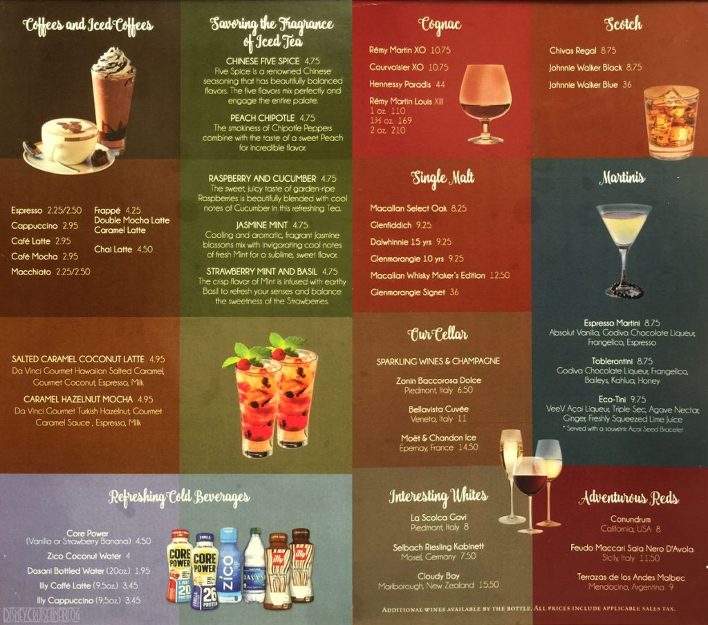 Cove Cafe Vista Cafe Menu June 2016