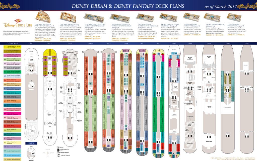 DCL Deck Plans Dream Fantasy March 2017