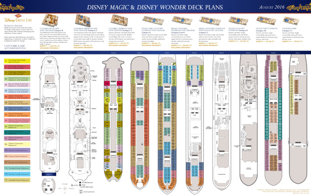 DCL Deck Plans Magic Wonder August 2016