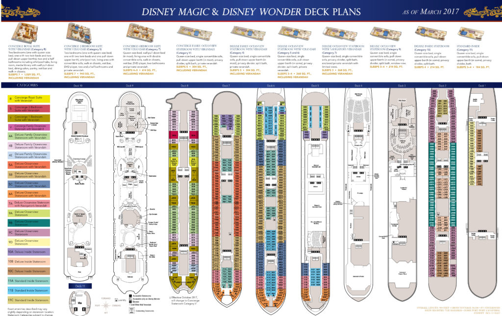 DCL Deck Plans Magic Wonder March 2017