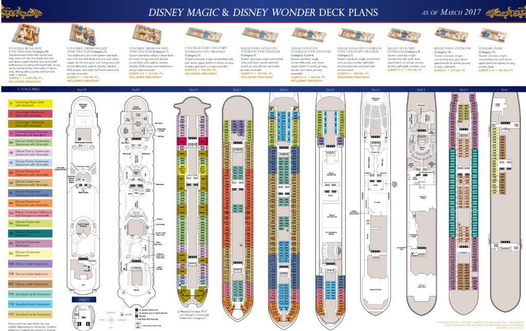 DCL Deck Plans Magic Wonder March 2017