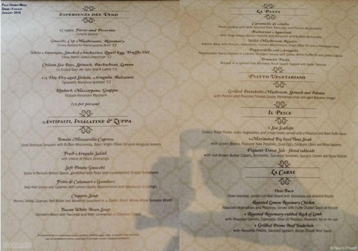 Da Paolo Restaurant Menu