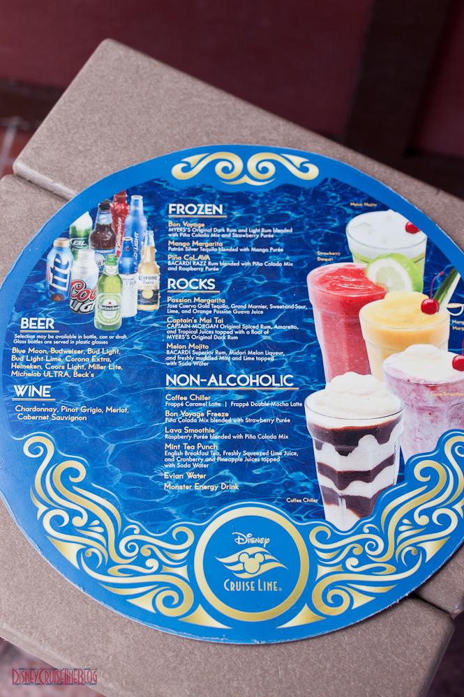 Server's Tray Drink Menu