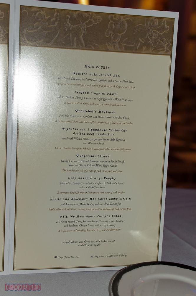 Til We Meet Again Dinner Menu The Disney Cruise Line Blog