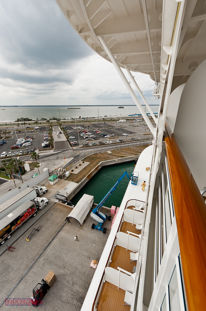 Disney Dream Stateroom 9648 | Verandah View of Port Canaveral