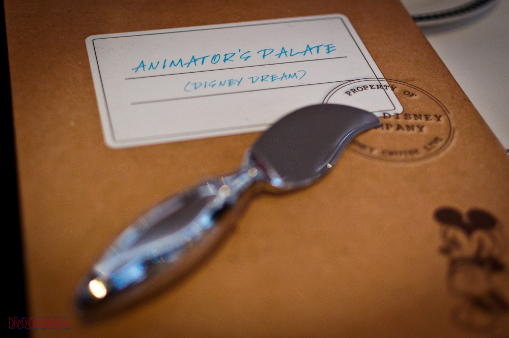 Animator's Palate Menu (2012) - Front Cover and Paint Brush Butter Knife