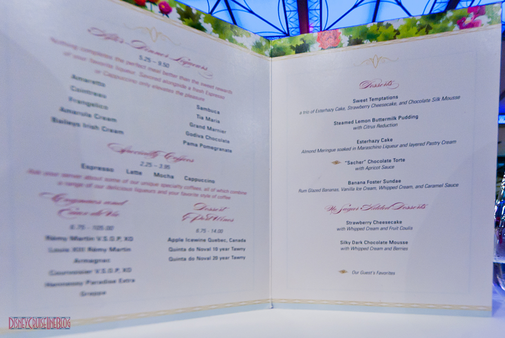 Enchanted Garden Dessert Menu Dream