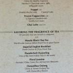 Cove/Vista Cafe - Menu Coffee/Tea