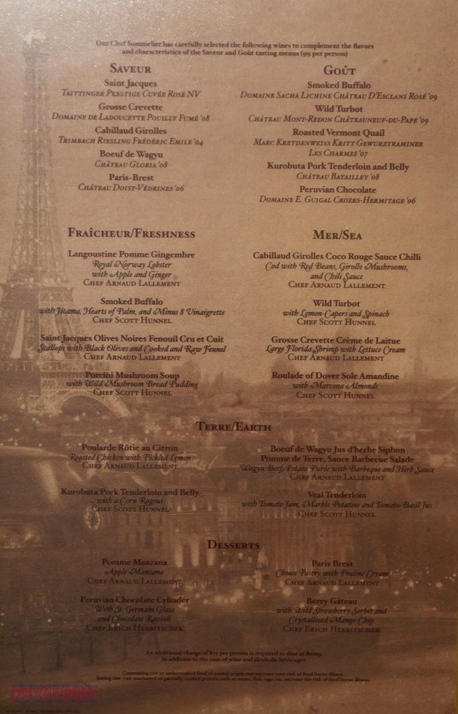 Remy - Dinner Menu (Fantasy)