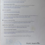 Animators Palate Menu (2011) - Feature Selections & Bread Service