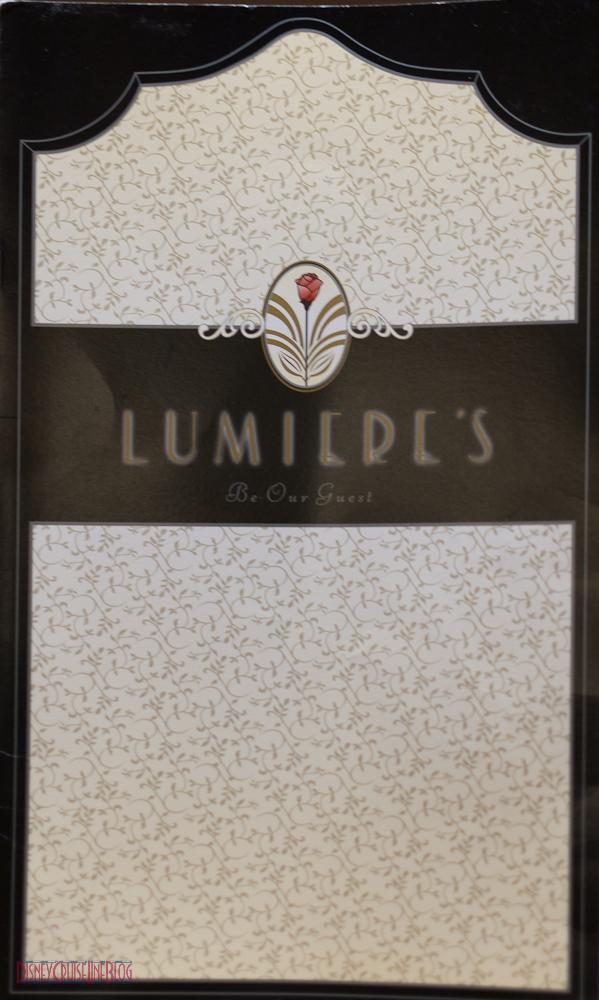 Lumiere's Menu (2011)