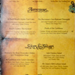 Pirates IN the Caribbean Menu (2011) - Cocktails, Appetizers, Soups & Salads, and Bread Service