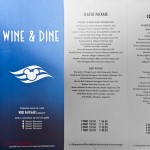 Wine & Dine - Wine Packages Menu