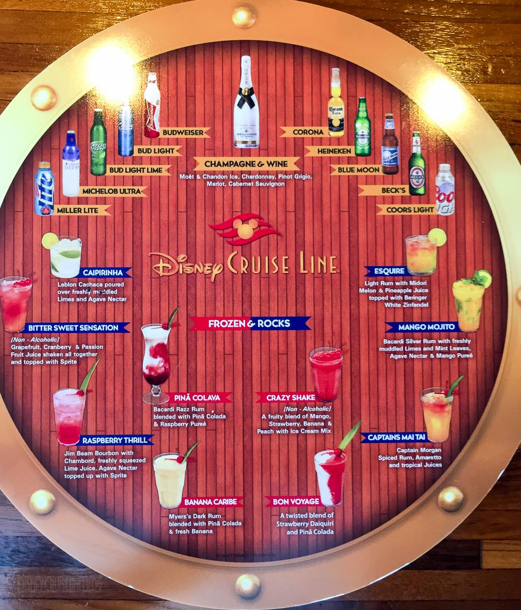 Error Log: Drink Menus • The Disney Cruise Line Blog
