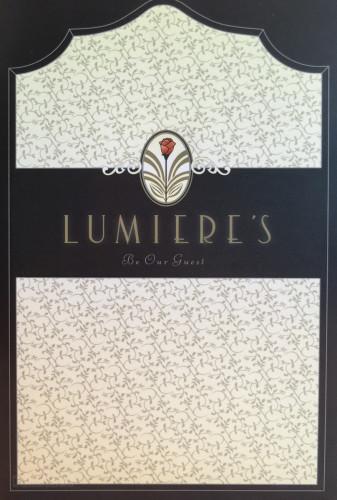 Lumiere's Dessert Menu Cover Magic July 2015