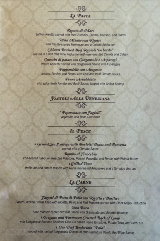 Palo Dinner Menu B Magic July 2015