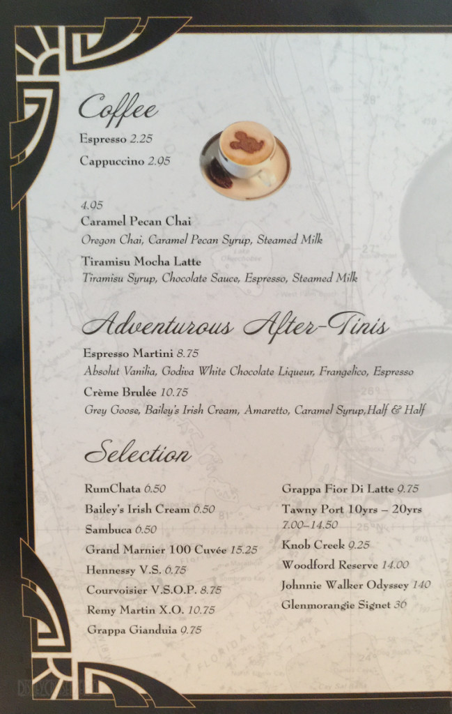 Captains Gala Dessert Menu A Magic July 2015