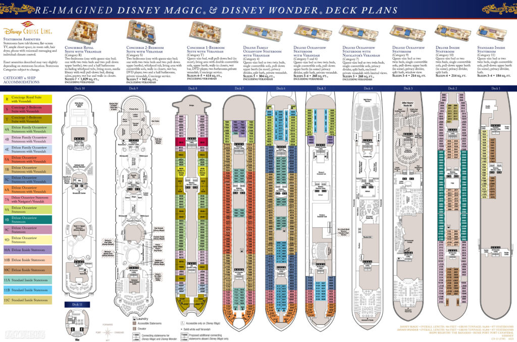 Disney Cruise Line's Re-Imagined Disney Magic & Disney Wonder Deck Plans - September 2013