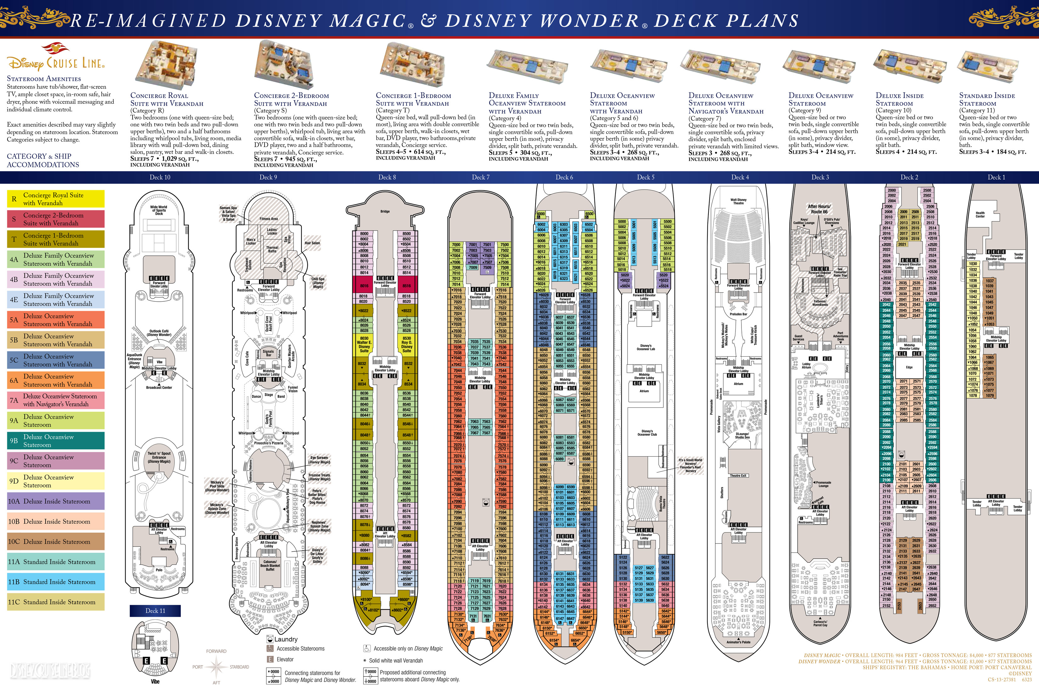 Deck plans disney magic disney wonder the disney for Deck blueprints