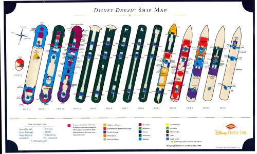Disney Dream Ship Map Handout October 2015