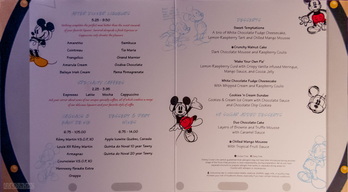 Menu Disney Magic Images
