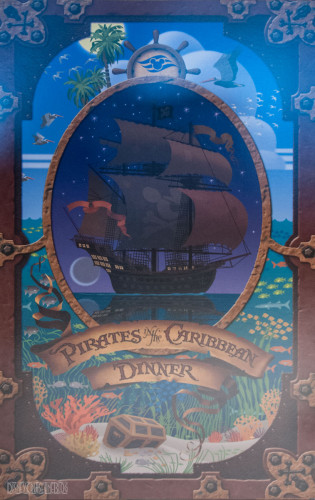Disney Magic Pirates IN The Caribbean Menu October 2013