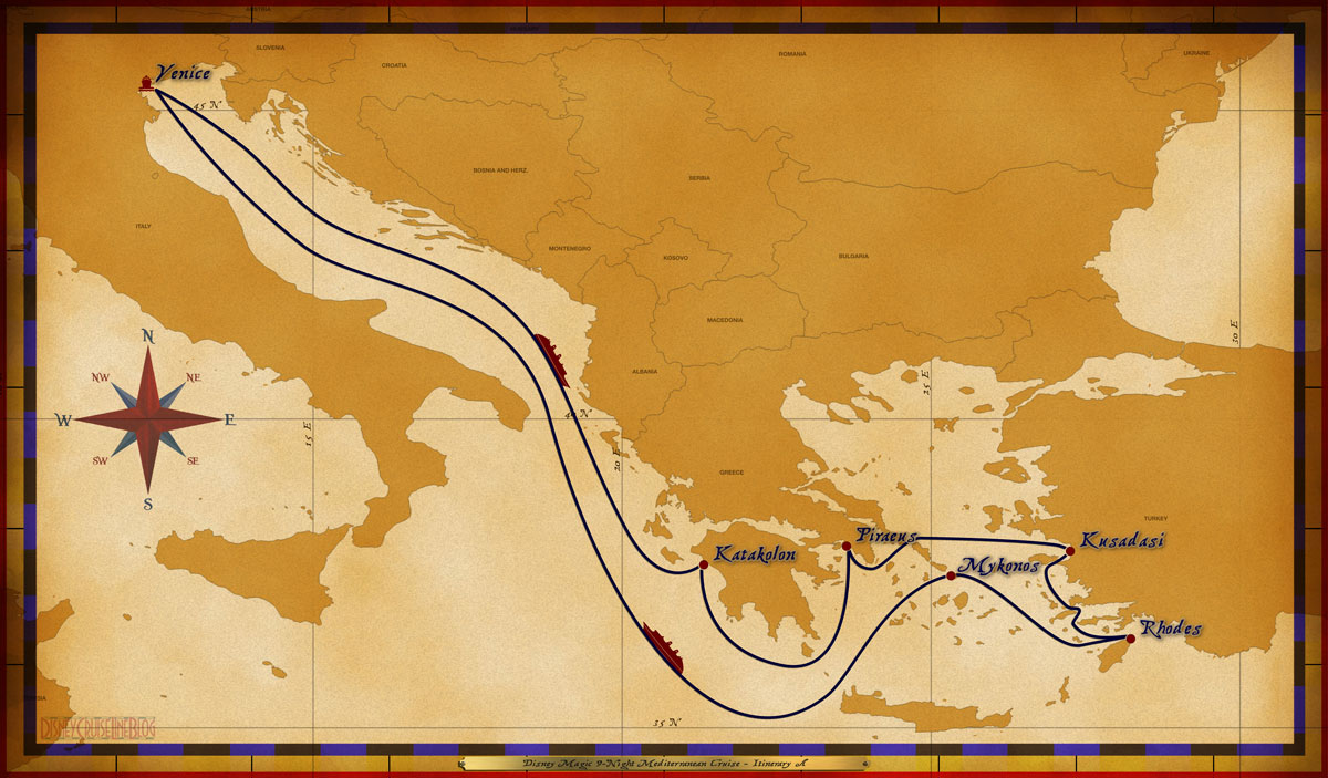 Personal Navigators Disney Magic 9 Night Mediterranean Cruise Itinerary A July 5 13 2014