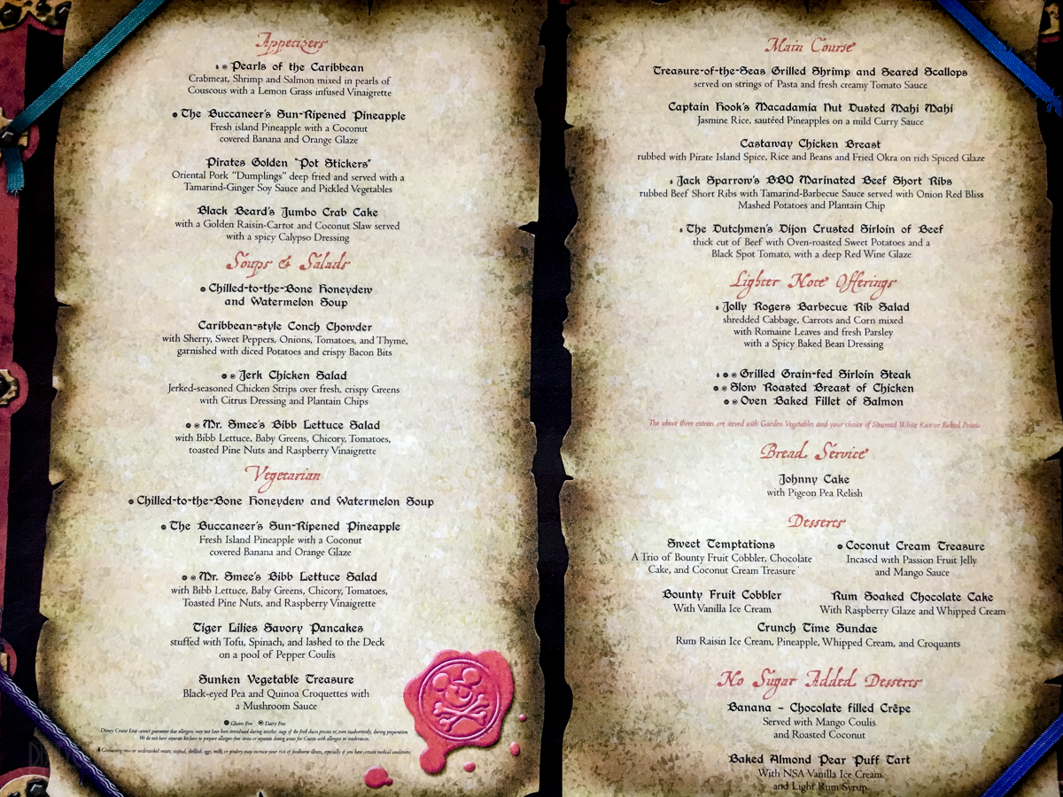 Western Themed Food Menu