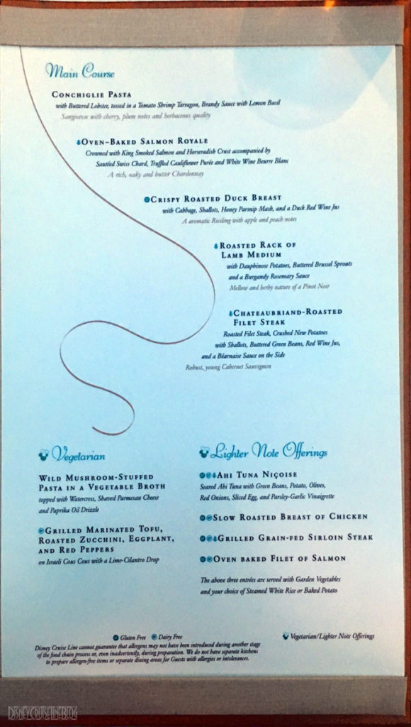 Tritons Dinner Menu B Wonder December 2016