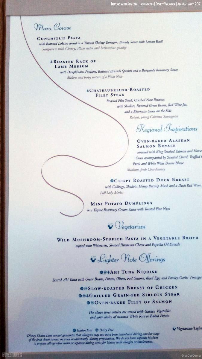 Triton S Menu The Disney Cruise Line Blog