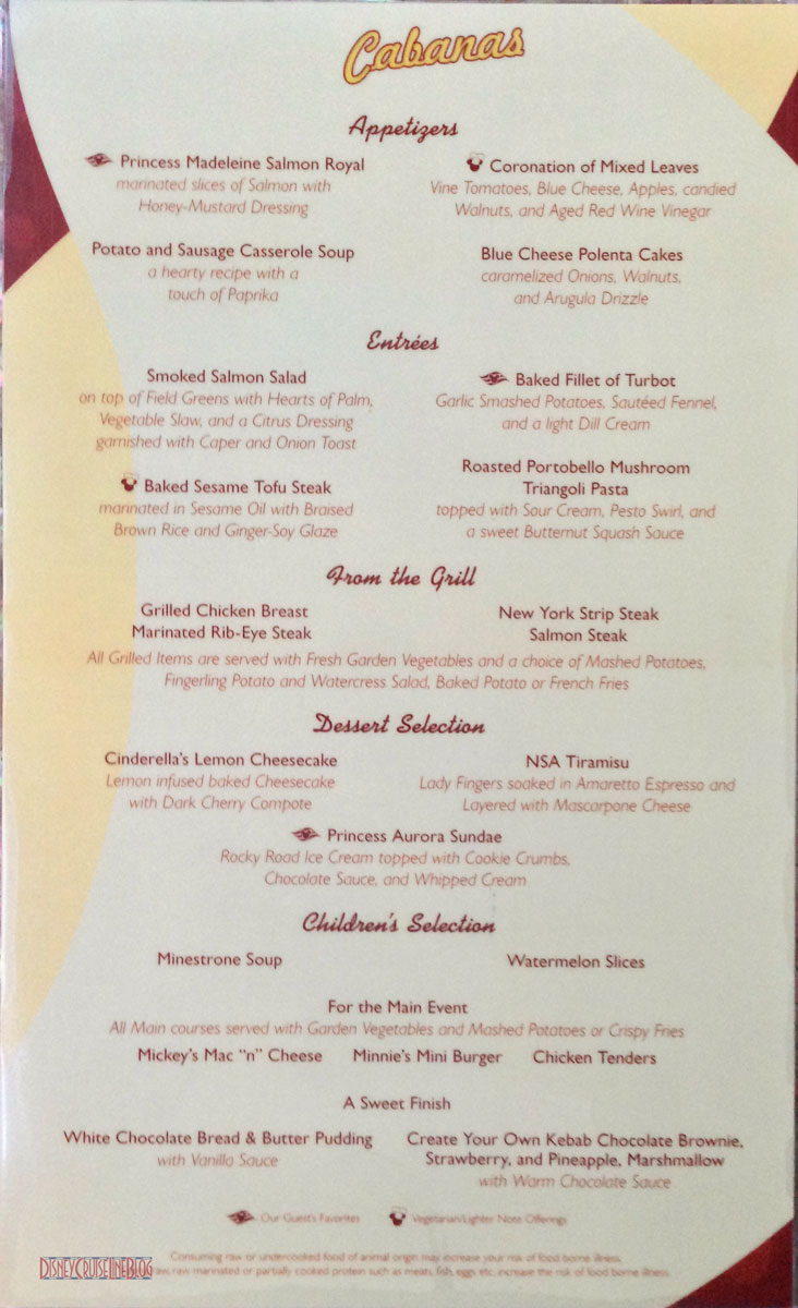 Hurricane Restaurant Dinner Menu