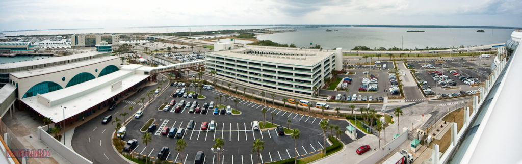 Port Canaveral Parking Garage Panorama