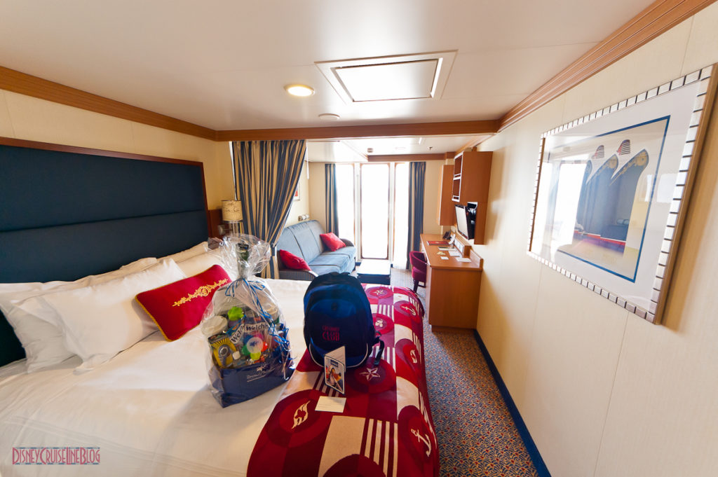 Stateroom 9674 - Bed & Sitting Area