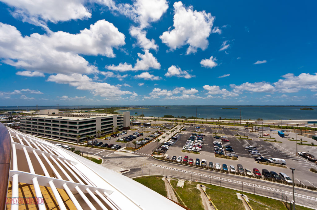Stateroom 9674 - Veranda View of Port Canaveral Parking Lot