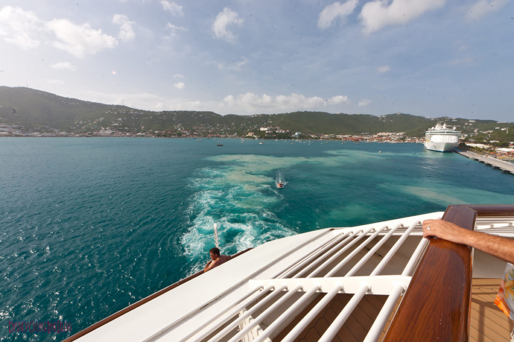 Stateroom 9674 - Aft Verandah View of St. Thomas