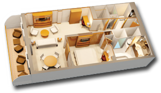 Concierge 1-Bedroom Suite with Verandah Diagram