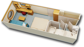 Deluxe Oceanview Stateroom Diagram
