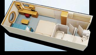 Deluxe Oceanview Stateroom Diagram