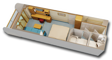 Deluxe Oceanview Stateroom with Navigator's Verandah Diagram