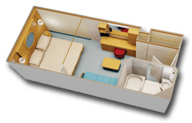 Standard Inside Stateroom Diagram