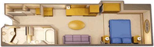 Deluxe Inside Stateroom Diagram
