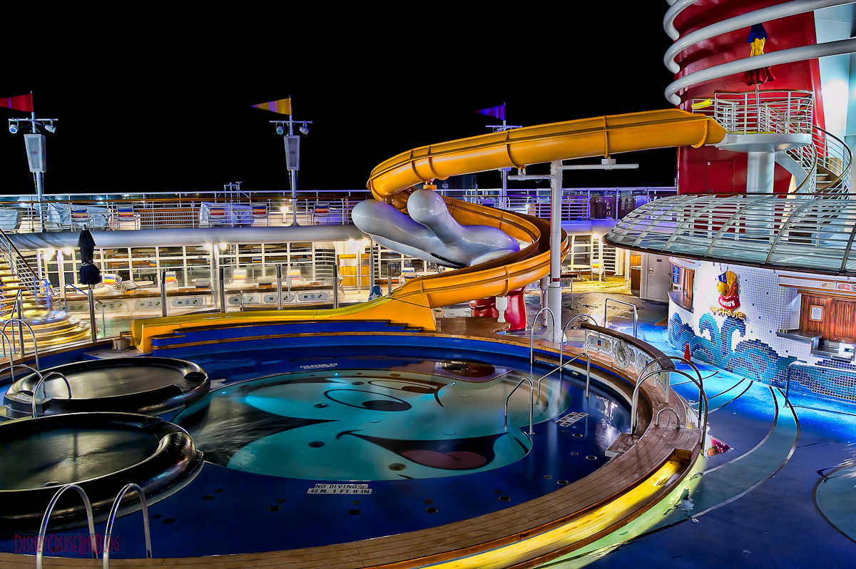 The Mickey Pool at 6AM on the Disney Magic