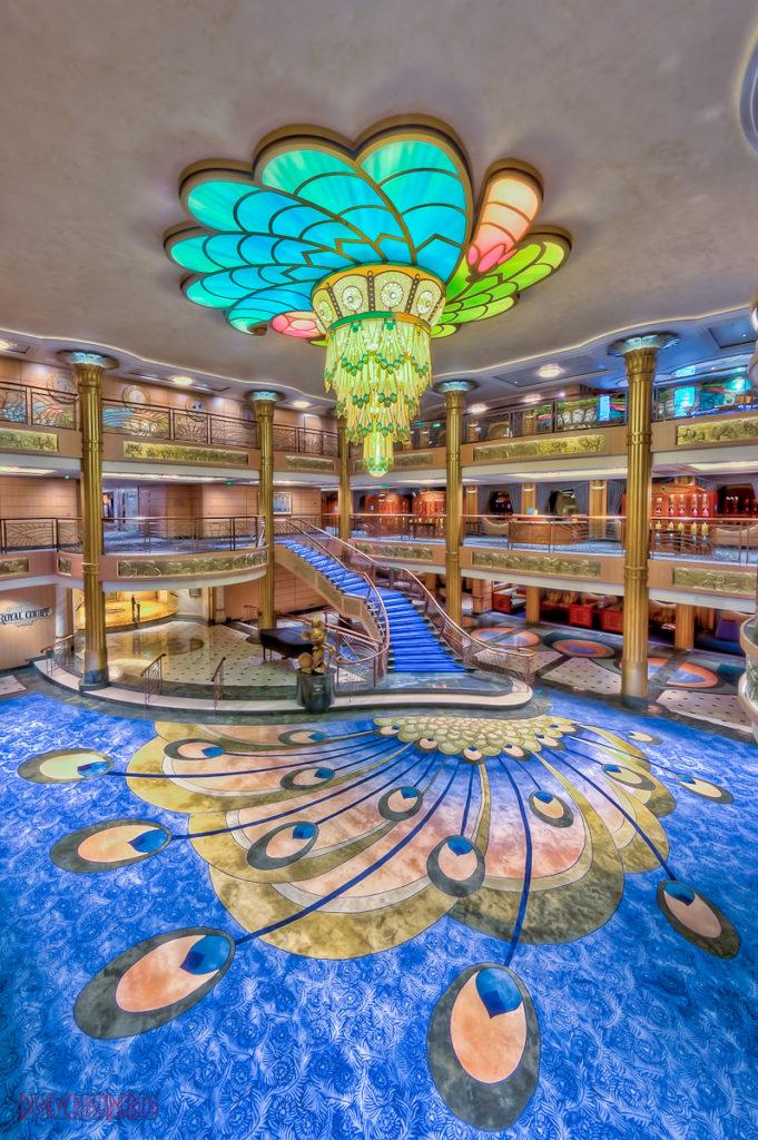 Disney Fantasy - Lobby Atrium from Deck 4
